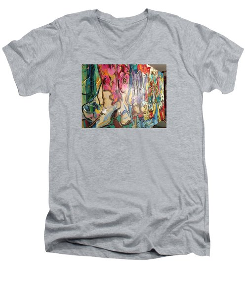 Boots On The Ground Men's V-Neck T-Shirt by Heather Roddy