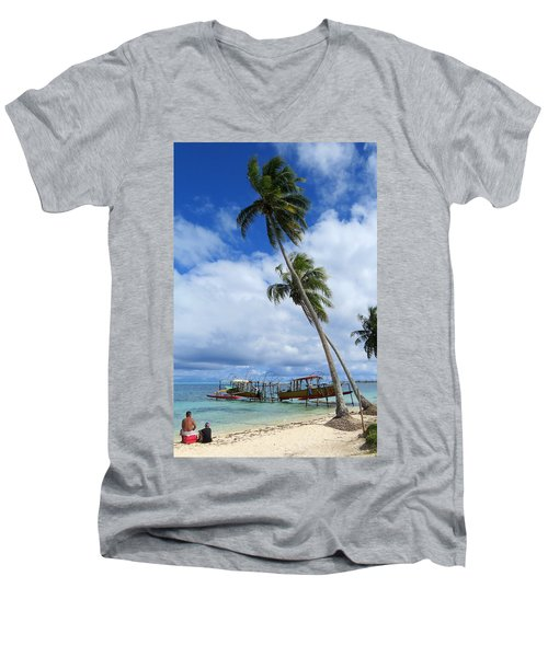 Bora Bora View Men's V-Neck T-Shirt