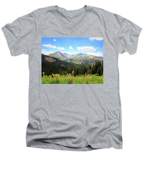 Boreas Pass Colorado Men's V-Neck T-Shirt