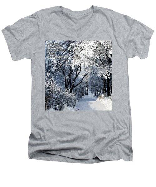 Born This Day Men's V-Neck T-Shirt by Judi Saunders