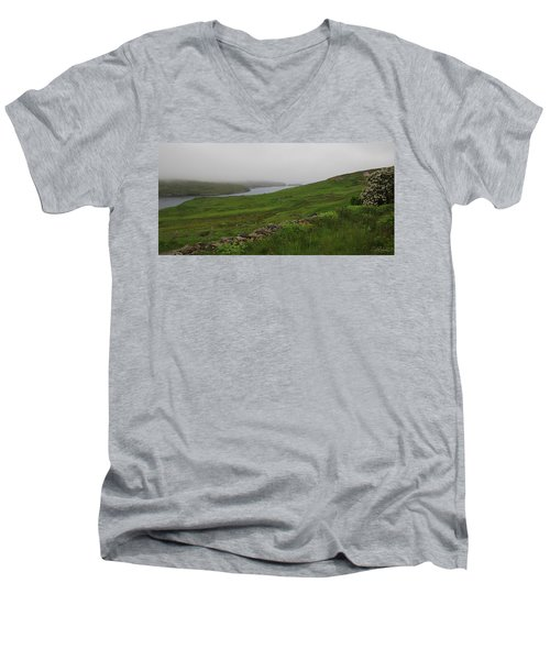 Borrowston Morning Clouds Men's V-Neck T-Shirt