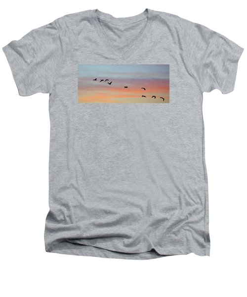 Bosque Sunrise Men's V-Neck T-Shirt
