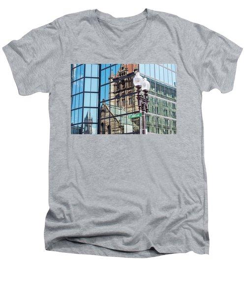Boston At Different Angle Men's V-Neck T-Shirt
