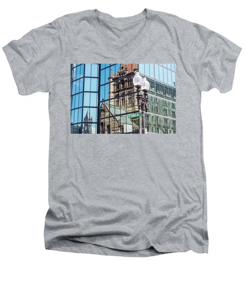 Boston At Different Angle Men's V-Neck T-Shirt