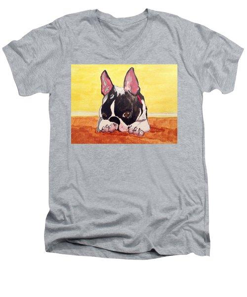 Boston Baby Men's V-Neck T-Shirt