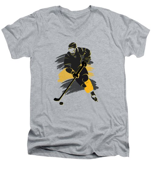 Boston Bruins Player Shirt Men's V-Neck T-Shirt by Joe Hamilton