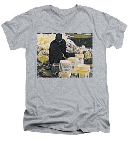 Boston Bucket Man Men's V-Neck T-Shirt