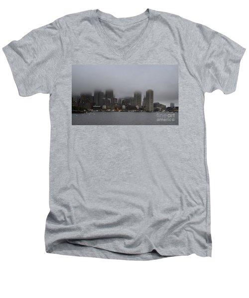 Boston In The Fog Men's V-Neck T-Shirt