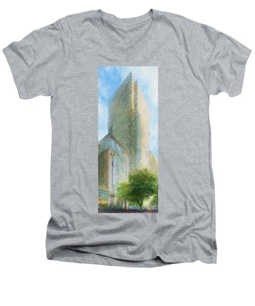 Boston Private Bank At Post Office Square Men's V-Neck T-Shirt