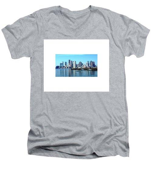 Boston Reflected Men's V-Neck T-Shirt