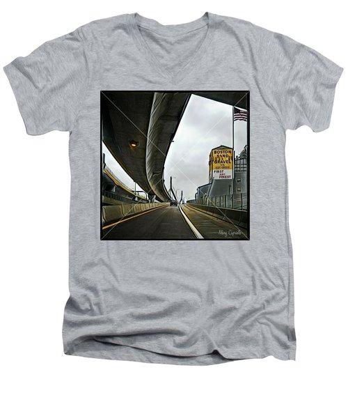 Boston Sand And Gravel  Men's V-Neck T-Shirt