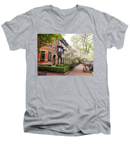 Boston Spring Men's V-Neck T-Shirt