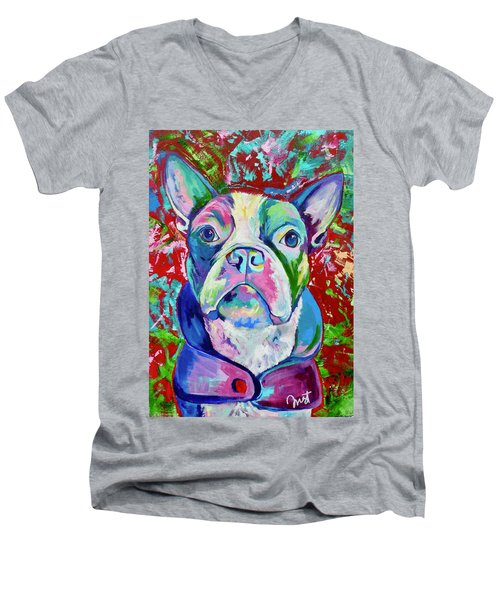 Boston Terrier Men's V-Neck T-Shirt