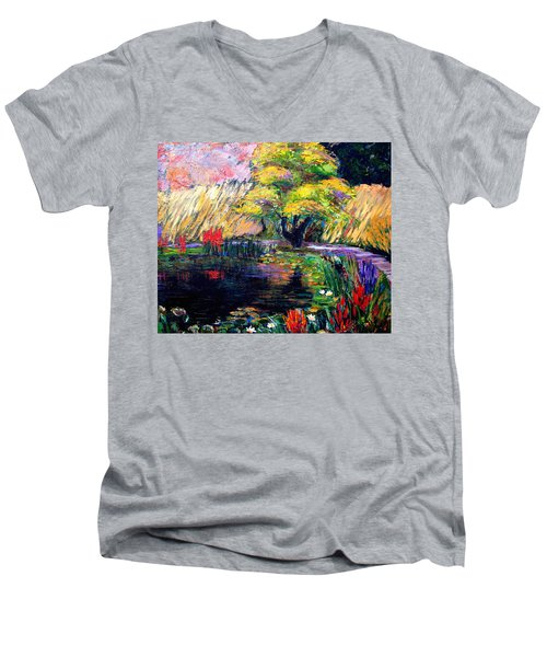 Botanical Garden In Lund Sweden Men's V-Neck T-Shirt