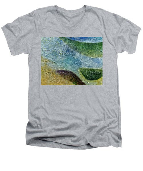 Men's V-Neck T-Shirt featuring the painting Botany I by John Hansen