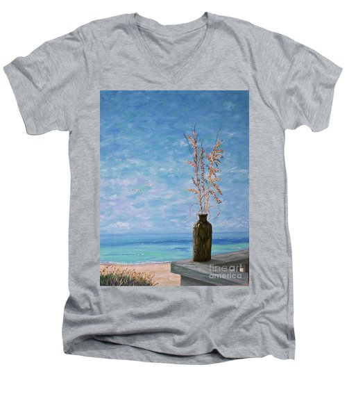 Bottle And Sea Oats Men's V-Neck T-Shirt