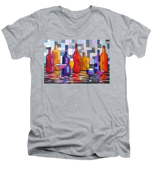 Bottle Of Wine Men's V-Neck T-Shirt
