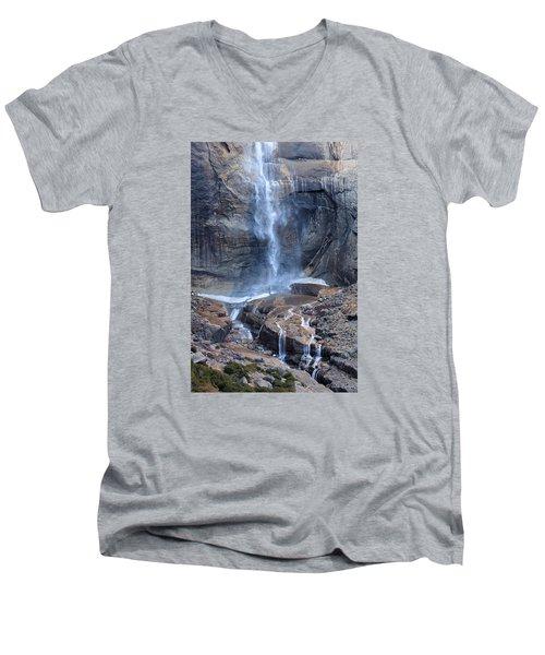Bottom Part Of Upper Yosemite Waterfall Men's V-Neck T-Shirt
