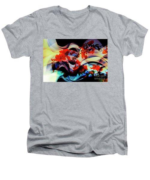 Men's V-Neck T-Shirt featuring the photograph Bougainvillea At Joe's Secret Garden IIi by Al Bourassa