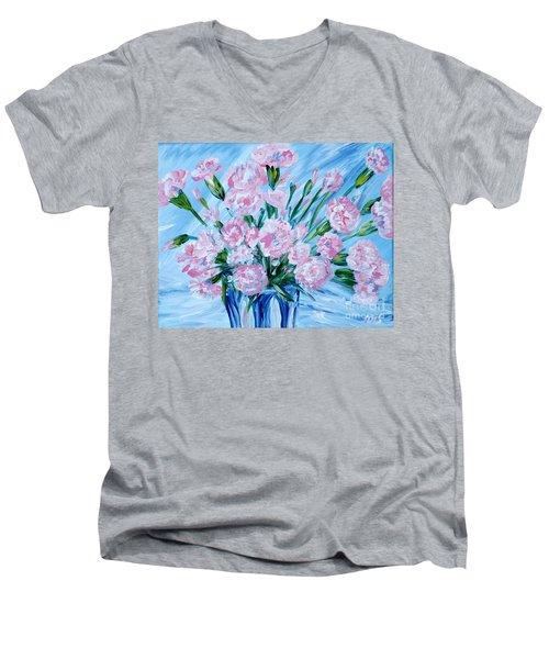 Bouguet Of Carnations.  Joyful Gift. Thank You Collection Men's V-Neck T-Shirt