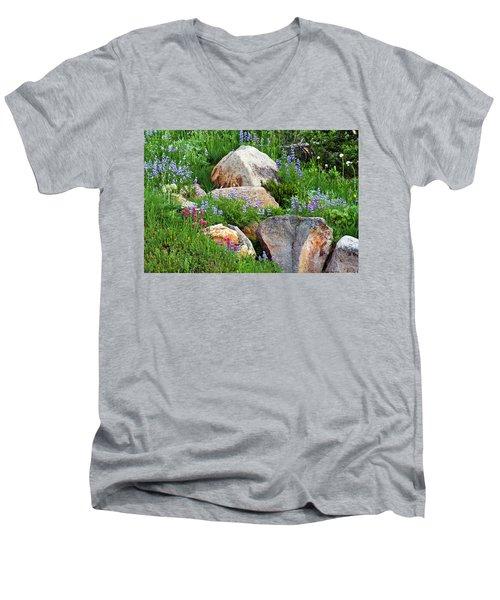 Boulder Blooms Men's V-Neck T-Shirt