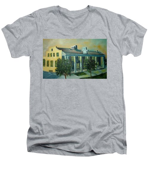 Boulder Dam Hotel, Boulder City, Nevada Men's V-Neck T-Shirt