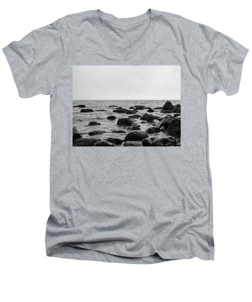 Boulders In The Ocean Men's V-Neck T-Shirt