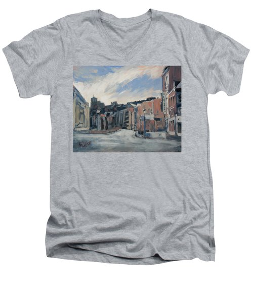 Boulevard La Sauveniere Liege Men's V-Neck T-Shirt by Nop Briex