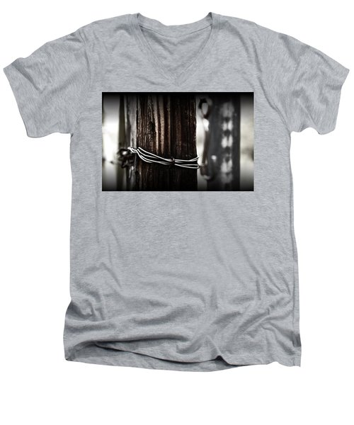 Men's V-Neck T-Shirt featuring the photograph Bound  by Mark Ross