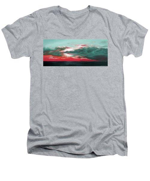Bound Of Glory - Panoramic Sunset  Men's V-Neck T-Shirt