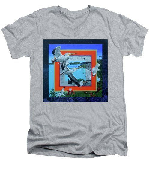 Boundary Series Xvii Men's V-Neck T-Shirt