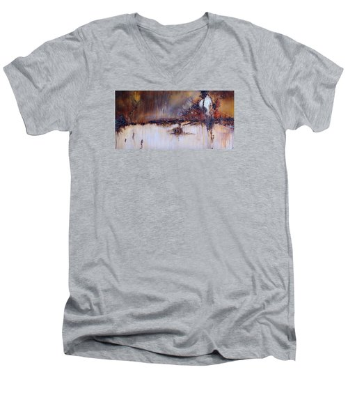 Boundary Waters Men's V-Neck T-Shirt by Theresa Marie Johnson