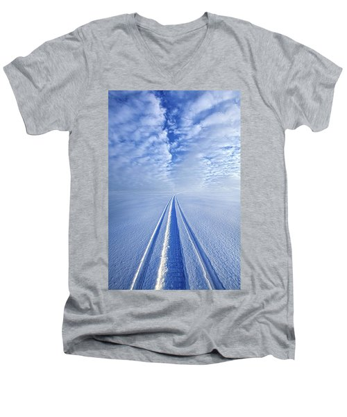 Men's V-Neck T-Shirt featuring the photograph Boundless Infinitude by Phil Koch