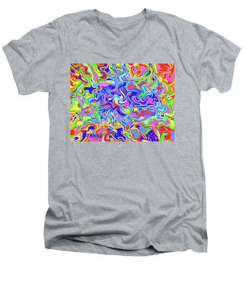 Boundless Men's V-Neck T-Shirt by Yvonne Blasy