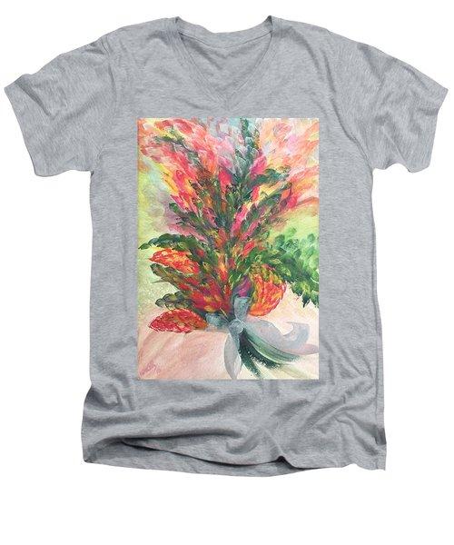 Bouquet And Ribbon Men's V-Neck T-Shirt