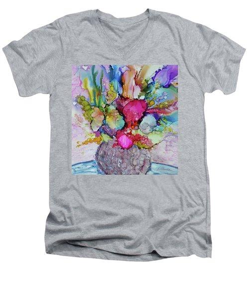 Bouquet In Pastel Men's V-Neck T-Shirt