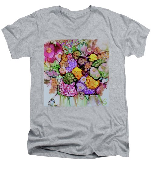 Bouquet Of Blooms Men's V-Neck T-Shirt by Joanne Smoley