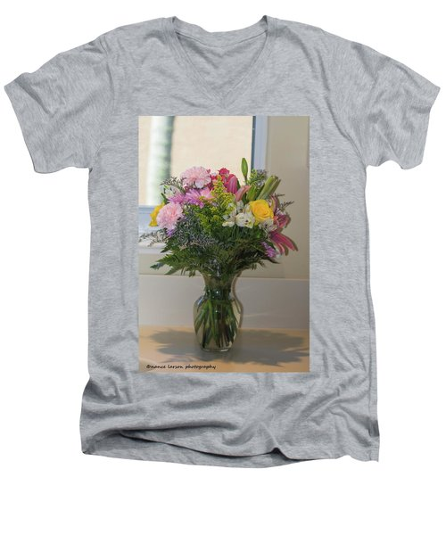 Bouquet Of Flowers Men's V-Neck T-Shirt