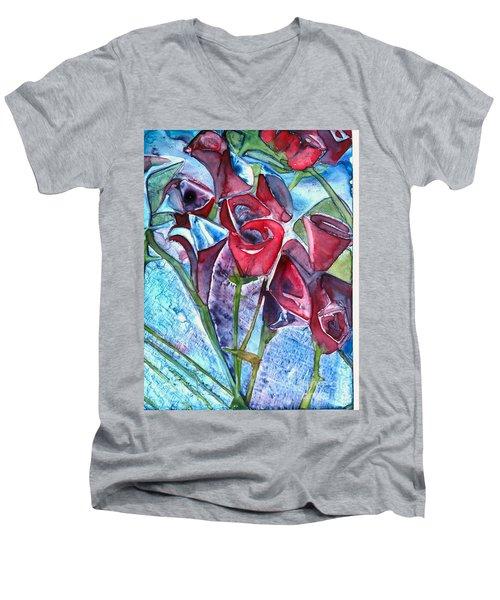 Bouquet Of Roses Men's V-Neck T-Shirt