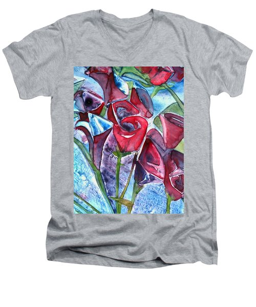 Bouquet Of Roses Men's V-Neck T-Shirt