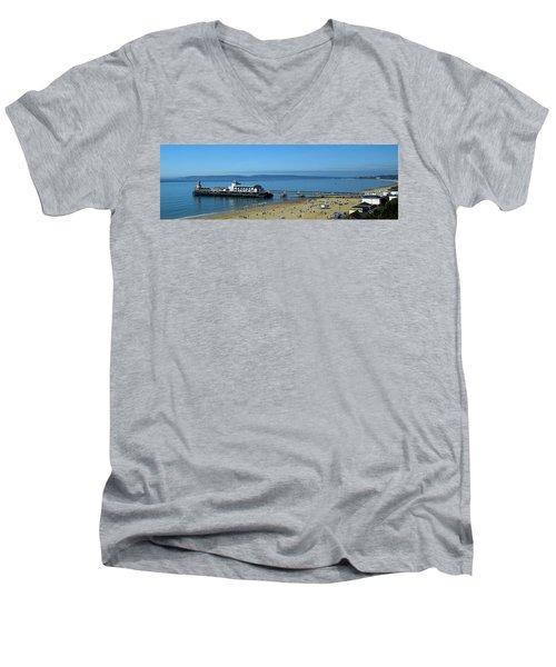Bournemouth Pier Dorset - May 2010 Men's V-Neck T-Shirt