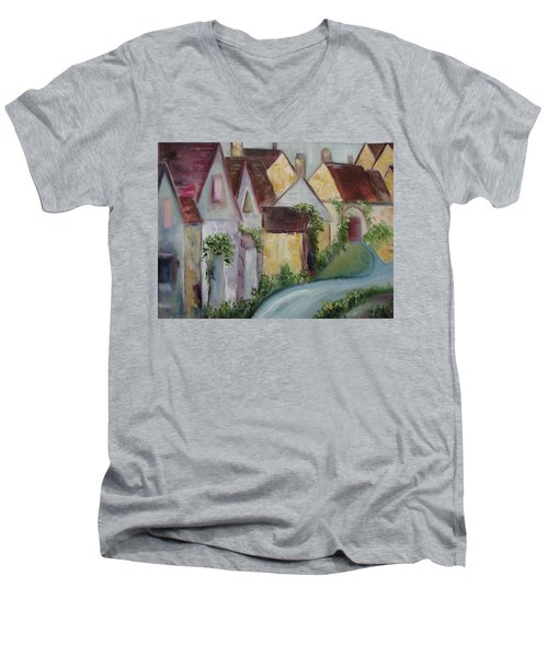 Bourton On The Water Men's V-Neck T-Shirt by Roxy Rich