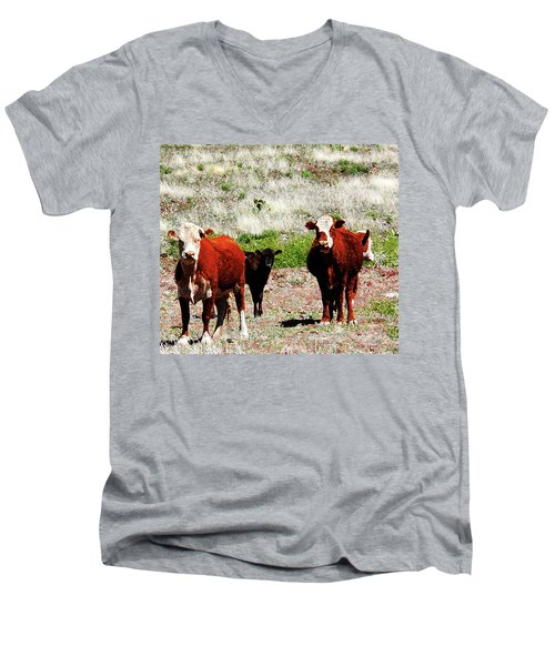 Bovine Men's V-Neck T-Shirt