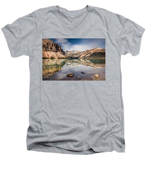 Bow Lake Glorious Reflection Men's V-Neck T-Shirt