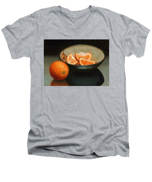Bowl Of Oranges Men's V-Neck T-Shirt