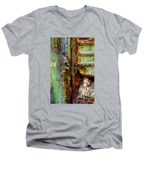 Boxcar 1 Men's V-Neck T-Shirt by Newel Hunter