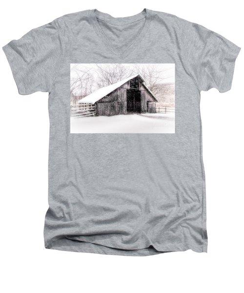 Boxley Snow Barn Men's V-Neck T-Shirt