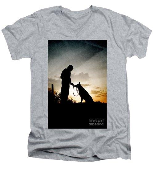 Boy And His Dog Men's V-Neck T-Shirt
