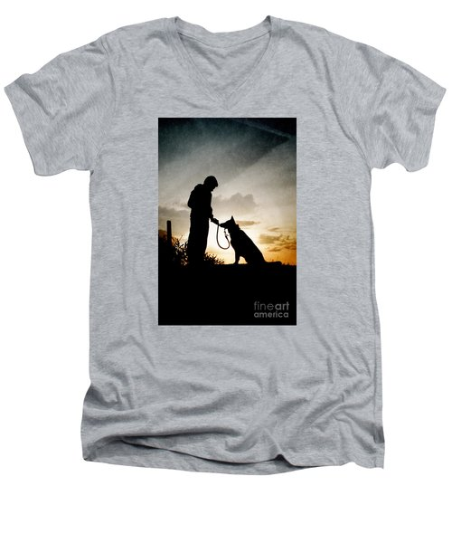 Boy And His Dog Men's V-Neck T-Shirt