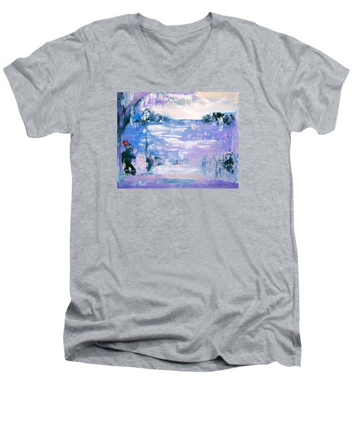 Be Brave By Colleen Ranney Men's V-Neck T-Shirt